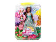 Barbie Dreamtopia Pitkähiuksinen prinsessanukke, tumma nukke
