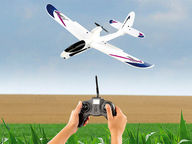 Radio-ohjattava lentokone kameralla
