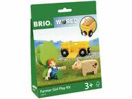 BRIO WORLD Maatilan tyttö -leikkisetti