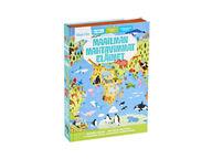Oppi ja ilo Maailman mahtavimmat eläimet -kirja ja palapeli