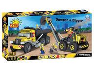 Cobi Dumber & Digger kaivinkonerakennussarja (500 osaa)