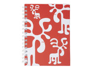 Brands Scandinavia Zoo Moose muistikirja, A5 punainen
