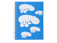 Brands Scandinavia Zoo Hippo muistikirja, A5 sininen