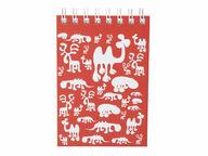 Brands Scandinavia Zoo Block muistikirja, A6 punainen